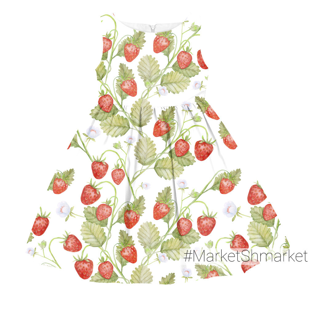 Seamless texture Summer strawberries, juicy berries on a white background