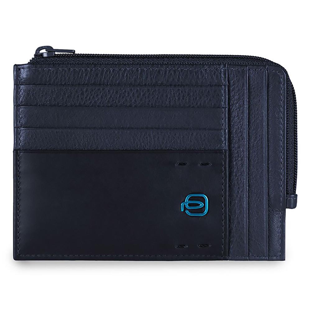 Чехол для кредитных карт Piquadro Pulse, цвет синий, 12х9х1 см (PU1243P15/BLU3)
