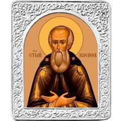 Святой Иосиф. Маленькая икона в серебряной раме.