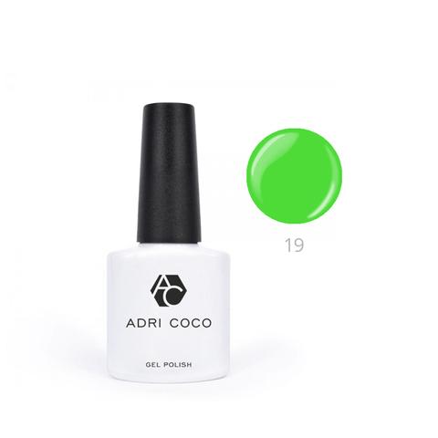 Гель-лак ADRICOCO Pretty dolly №19 неоновый зеленый (8 мл.)