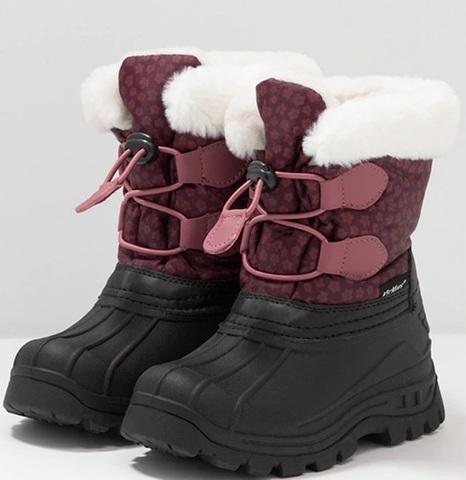 Kickers ботинки зимние Sealsnow Burgundy pink flowery