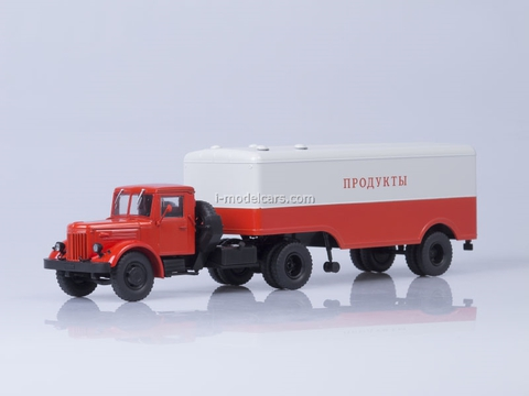 MAZ-200V with semitrailer MAZ-5217 red-gray AutoHistory 1:43