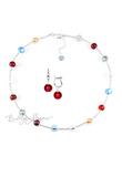 Комплект Carnavale Argento Piccolo (красные серьги на серебре, ожерелье)