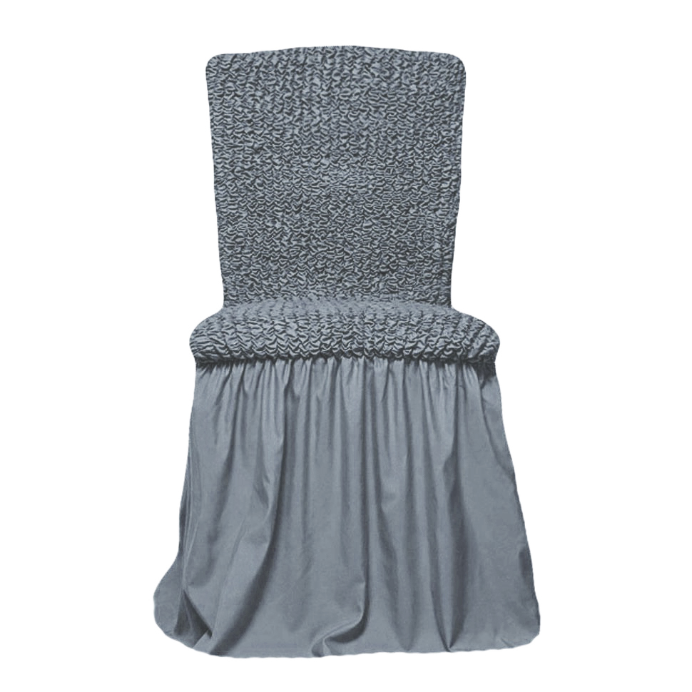 Чехлы на стулья универсальные, комплект из 4 штук, светло-серый