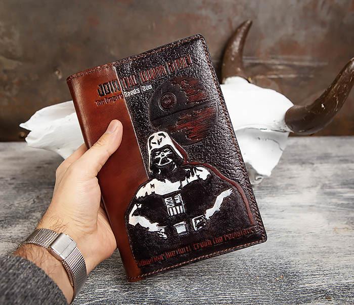 BC201 Ежедневник ручной работы изображением Дарта Вейдера (A5) фото 08