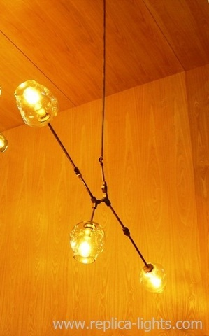 replica Lindsey Adelman 3 Branching Bubble Chandelier horisontal