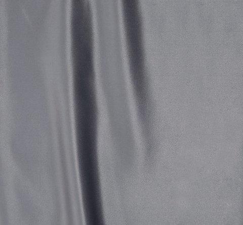 Однотонная портьерная ткань Эвита сатин серый