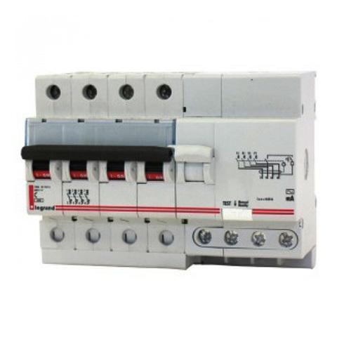 Дифференциальный автомат 4-полюсный 6kA RCBO C63/0.3A Legrand DX 08033