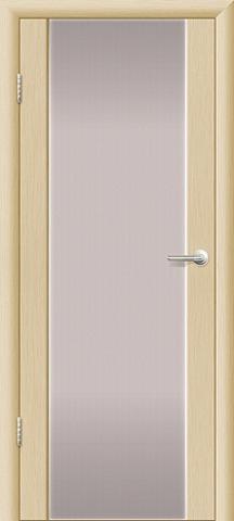 Дверь Ладора 3/3, цвет орех капучино, остекленная