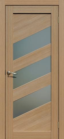 Дверь La Stella 216, стекло матовое, цвет тиковое дерево, остекленная