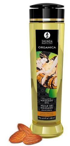 Массажное масло Organica с ароматом миндаля - 240 мл.