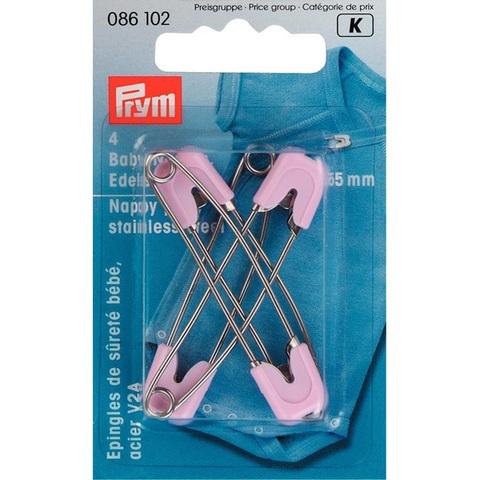 Булавки детские изогнутые розовые PRYM 086102
