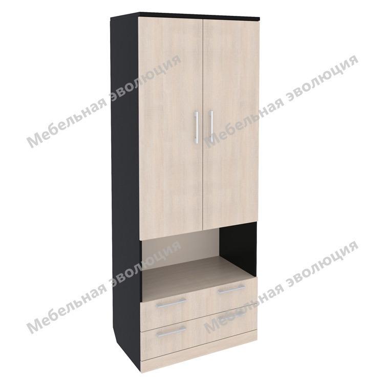 Шкаф с полками, нишей и выдвижными ящиками, Эволюция
