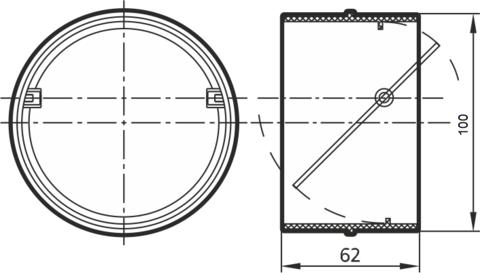 Соединитель-муфта с обратным клапаном 100 мм