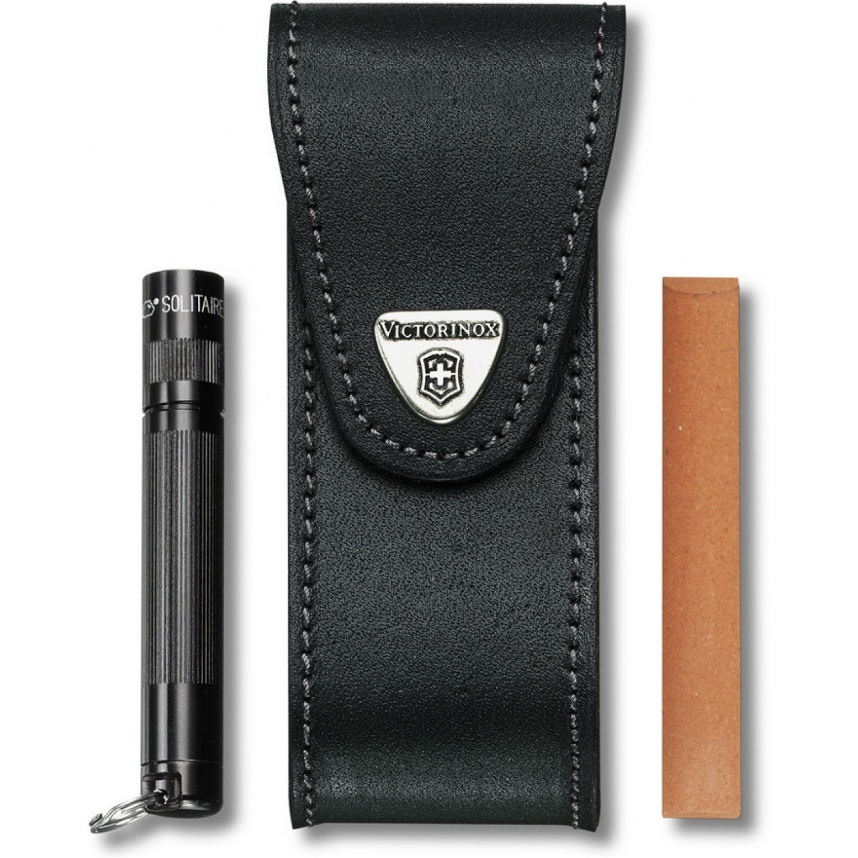 Чехол кожаный с дополнительными отделениями для ножей Victorinox 111 мм. (4.0523.32) - Wenger-Victorinox.Ru