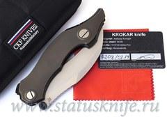 Нож Krokar Ti (Алексей Коныгин, титан, цирконий, M390)