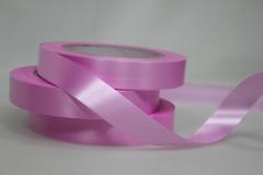Лента простая (2см*50м) Гладкая без тиснения/Ярко-розовая