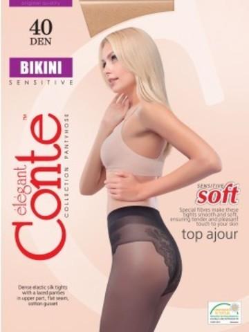 Conte Bikini Колготки женские 40d, p.4 bronz