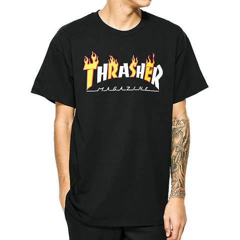 Футболка THRASHER Flame Mag (Black)