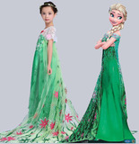 Платье Эльзы из мультфильма Frozen Ледяная лихорадка зеленое