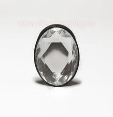 Анальная страза, анальная пробка с кристаллом овальной формы (2,8 х 6,5 см.)