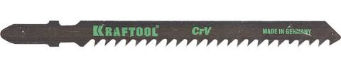 Полотна KRAFTOOL, T111C, для эл/лобзика, Cr-V, по дереву, ДВП, ДСП, грубый рез, EU-хвост., шаг 3мм, 75мм, 2шт
