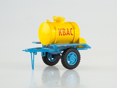 Trailer ACPT-0,9 tanker for Kvas yellow-blue 1:43 AutoHistory