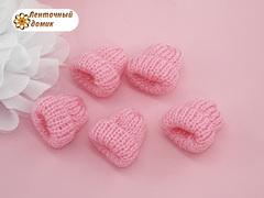 Декор шапочка вязаная розовая