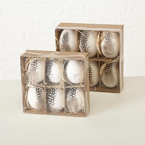 Набор из 6 декоративных яиц