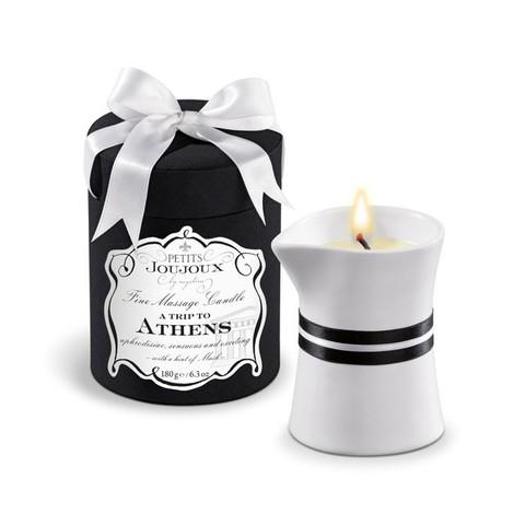 Массажное масло в виде большой свечи Petits Joujoux Athens с ароматом муската и пачули