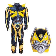 Трансформер Бамблби Делюкс. Карнавальный костюм для мальчика с мускулами