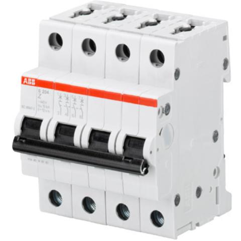 Автоматический выключатель 4-полюсный 10 А, тип Z, 6 кА S204 Z10. ABB. 2CDS254001R0428