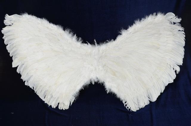 Крылья перьевые белые 110 х 60 см