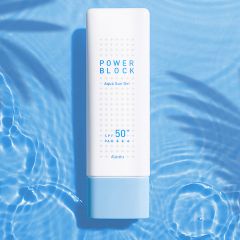 Солнцезащитный гель A'PIEU Power Block Aqua Sun Gel SPF50+ PA++++