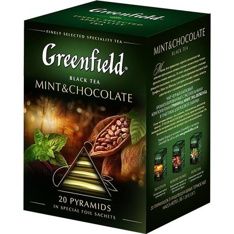 "Чай ""Greenfield"" Mint & Chocolate 20 пирамидок 2 г"