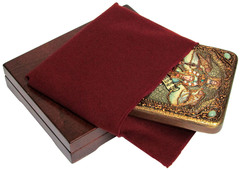 Инкрустированная икона Святая мученица Параскева Пятница 20х15см на натуральном дереве в подарочной коробке