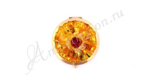 Янтарное зеркало Роза в ассортименте