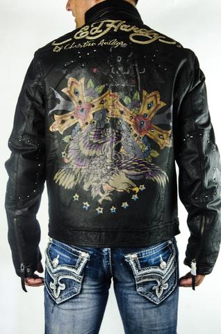 Куртка кожаная Ed Hardy от C. Audigier