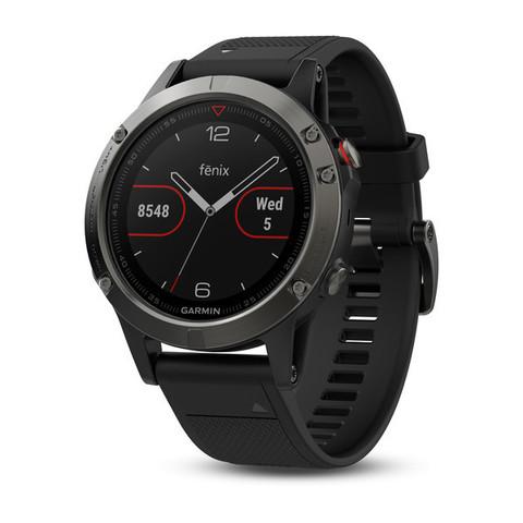 Купить Умные мужские спортивные часы Garmin Fenix 5 - серые с черным ремешком 010-01688-00 по доступной цене