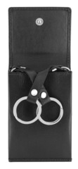 Ключница WENGER Alphubel, черный, кожа наппа, 6,5 х 1,5 х 10 см. WENGER