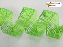 Лента-сеточка зеленое яблоко ширина 38 мм