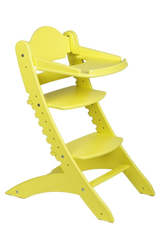 Детский растущий стул Два кота М1 Желтый