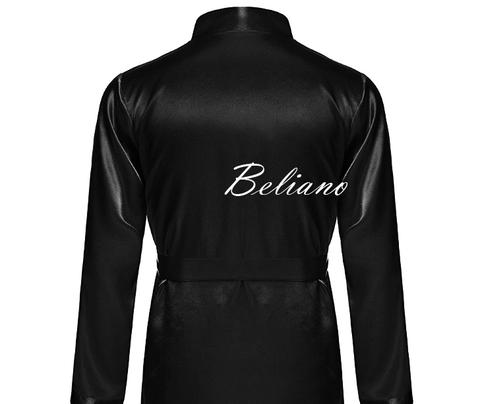 черный халат для мужчины купить в Украина в Киеве по фото с ценой. Натуральный шелк (шелковый халат мужской)