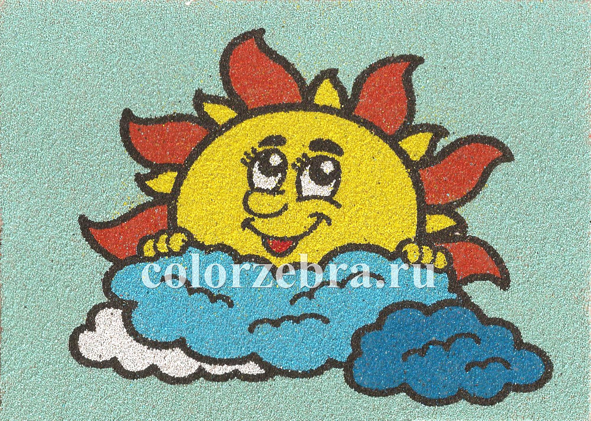 Песочный трафарет Солнышко А4