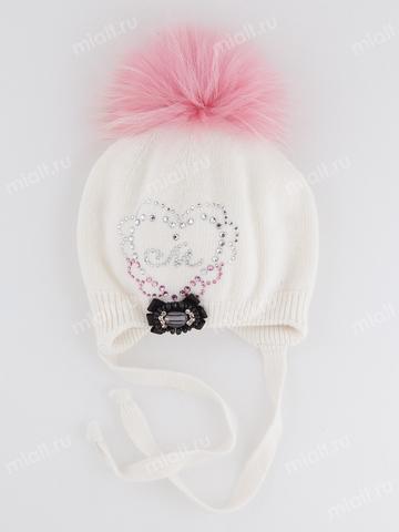 Зимняя шапка для девочки Mialt Француженка