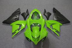 Комплект пластика для мотоцикла Kawasaki ZX-10R 04-05 Зелено-Черный