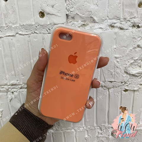 Чехол iPhone 5/5s/SE Silicone Case /peach/ персик 1:1