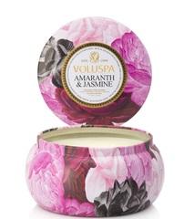 Ароматическая свеча Voluspa Амарант и жасмин в алюминевой банке с 2 фитилями