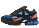 Кроссовки Женские Adidas X Raf Simons OZWEEGO 2 Black / Blue / Coral