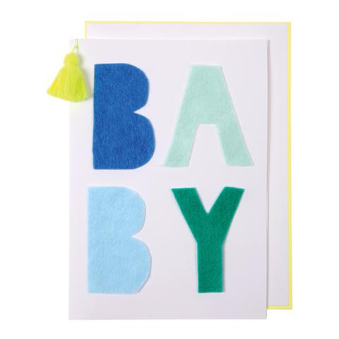 Открытка поздравительная, детская, голубая